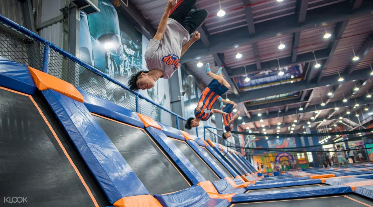high-performance trampolines inside jump arena vietnam